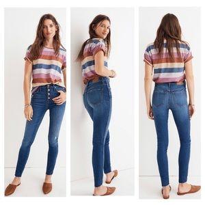 "New Madewell 10"" High-Rise Skinny Jeans Hanna Wash"